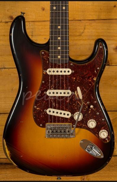 Fender Custom Shop 60 Strat Relic 3 Tone Sunburst
