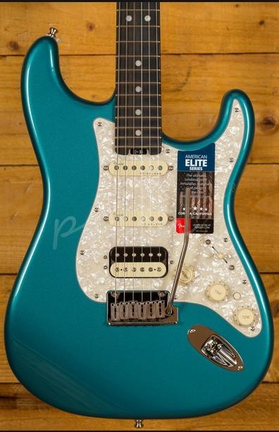 Fender American Elite Strat HSS Shawbucker Ocean Turquoise