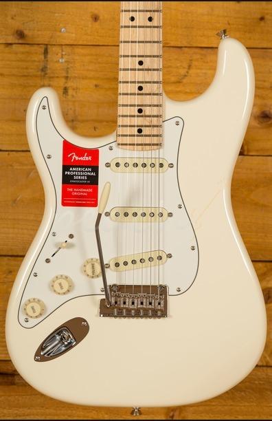 Fender American Pro Strat Maple Neck Olympic White Left Handed