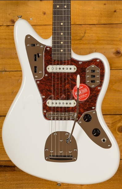 Squier Vintage Modified Jaguar Olympic White