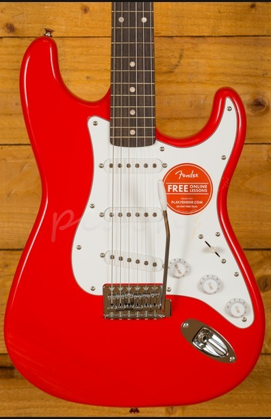 Squier Affinity Strat Maple Race Red