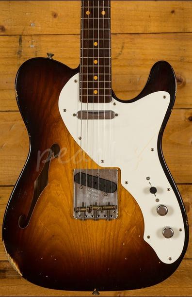 Fender Custom Shop 50s Thinline Tele Relic Wide Faded 2 Tone Sunburst