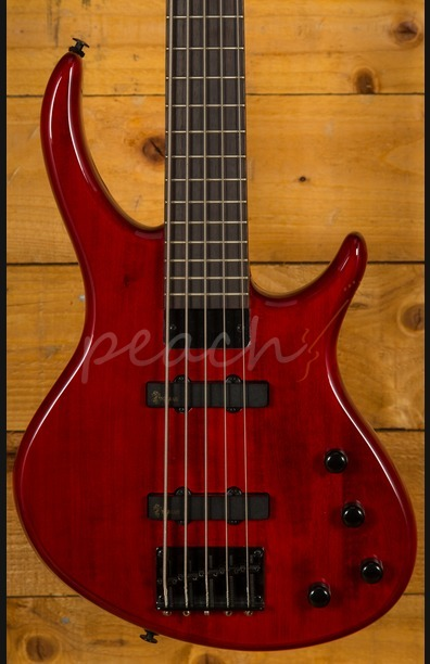 Epiphone Toby Deluxe V Bass Trans Red