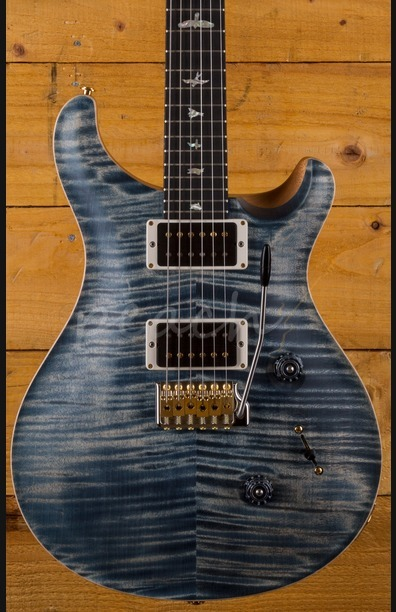 PRS Custom 24 Wood Library Faded Whale Blue Satin