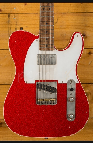 LSL Bad Bone 1 Red Sparkle Baked Maple Neck Humbucker