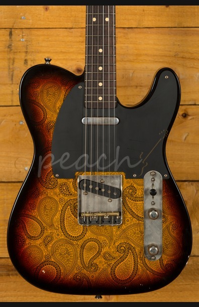 LSL T Bone Swamp Ash Black Paisley on 3TSB
