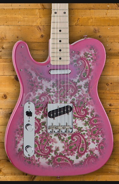 Fender Japan Traditional 69 Pink Paisley Tele Left Handed