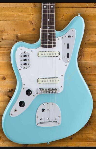 Fender Japan Traditional 60's Jaguar Left Handed Daphne Blue