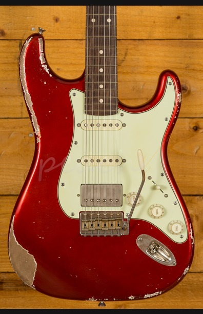 Xotic California Classic XSC-2 Candy Apple Red (Gold undercoat) Heavy Aged