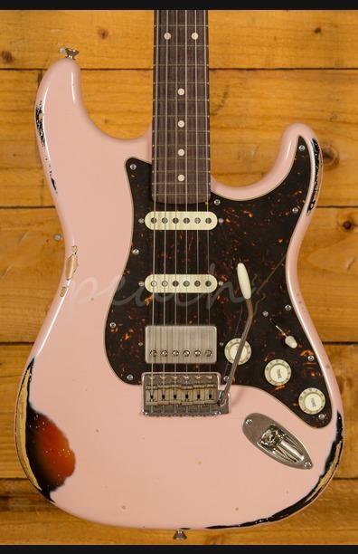 Xotic California Classic XSC-2 Shell Pink over 3 Tone Burst Heavy Aged