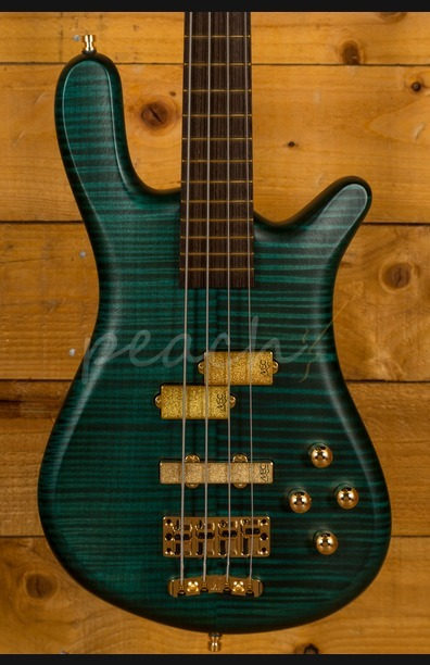 Warwick Custom Shop Streamer LX 4 string - Petrol Green Transparent Satin