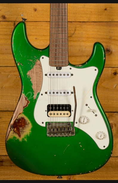 Friedman Vintage-S Candy Green over 3TSB Pau Ferro HSS