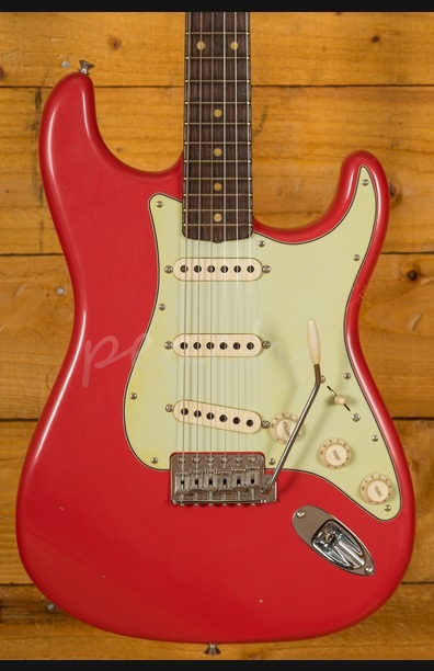 Fender Custom Shop 61 Journeyman Relic Strat Fiesta Red