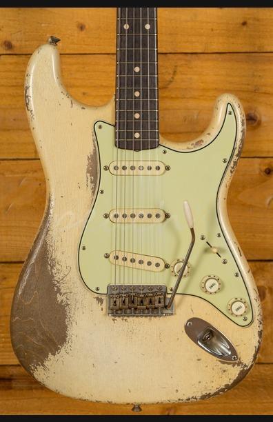Fender Custom Shop Dale Wilson Masterbuilt 61 Strat Heavy Relic Olympic White