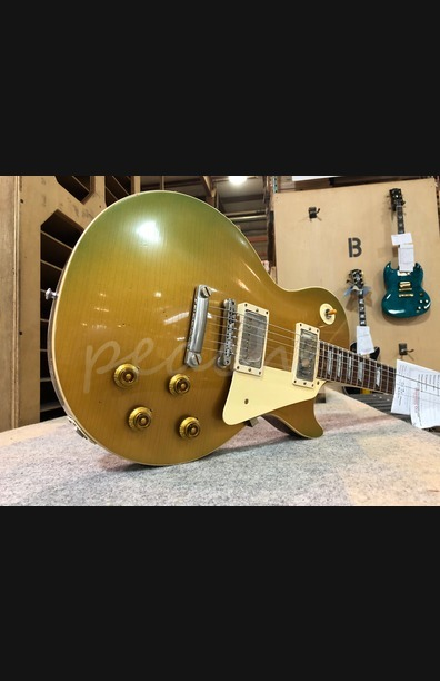 "Gibson Custom 57 Les Paul ""Heirloom Gold"" In House Light Aged"